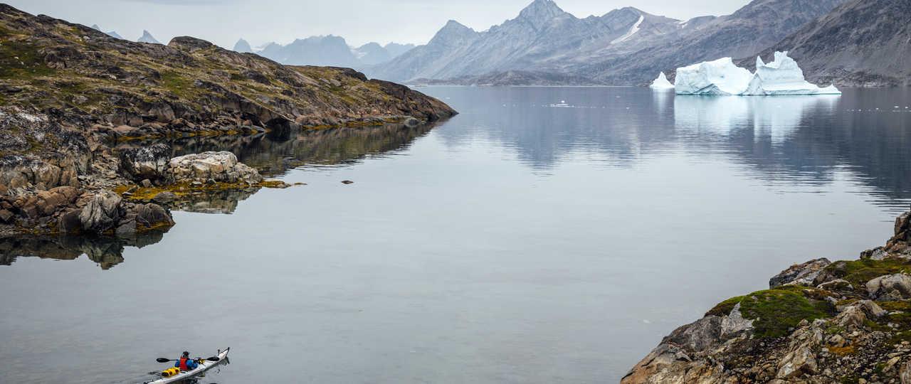 Kayak sur la côte Est du Groenland