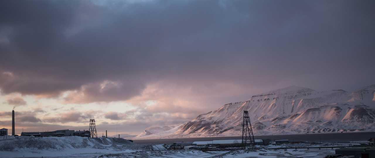 Longyearbyen l'hiver Spitzberg