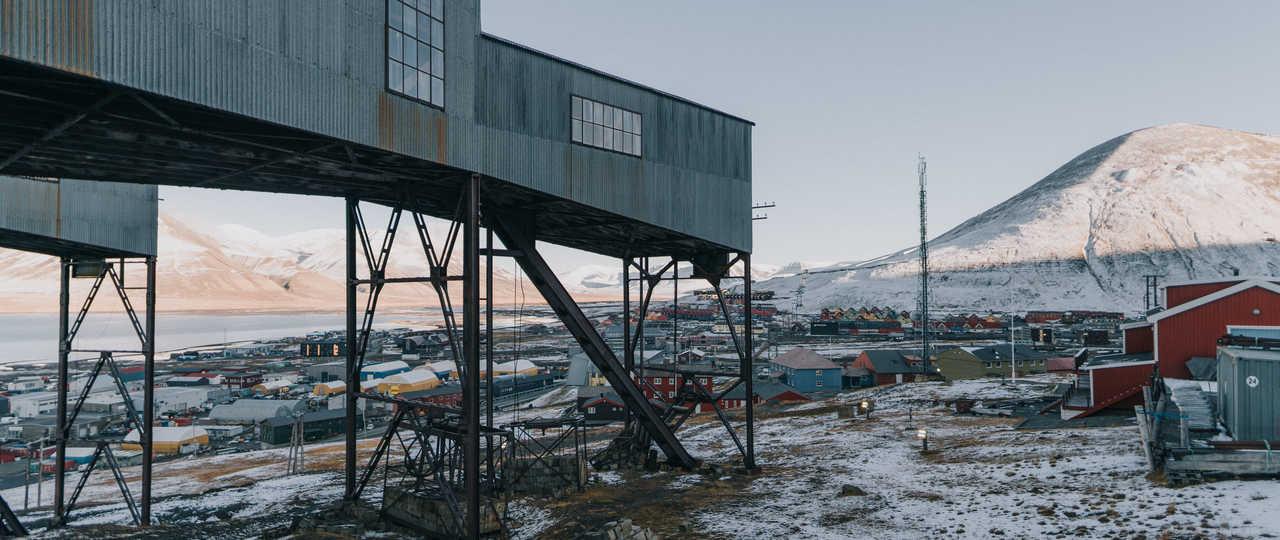 Longyearbyen, ville minière de Norvège