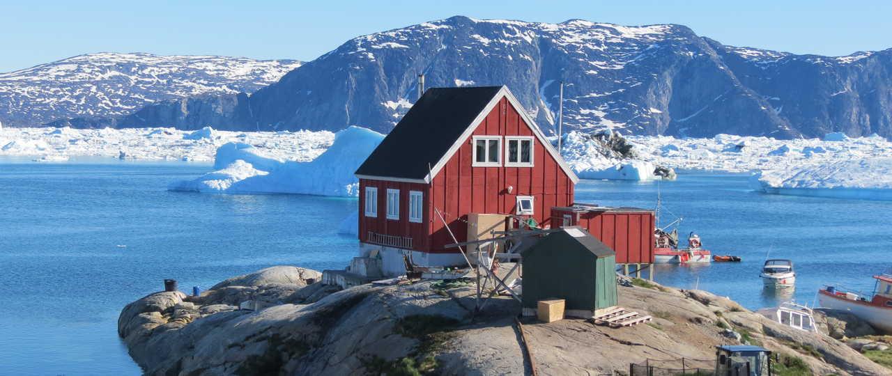 Maison colorée du Groenland