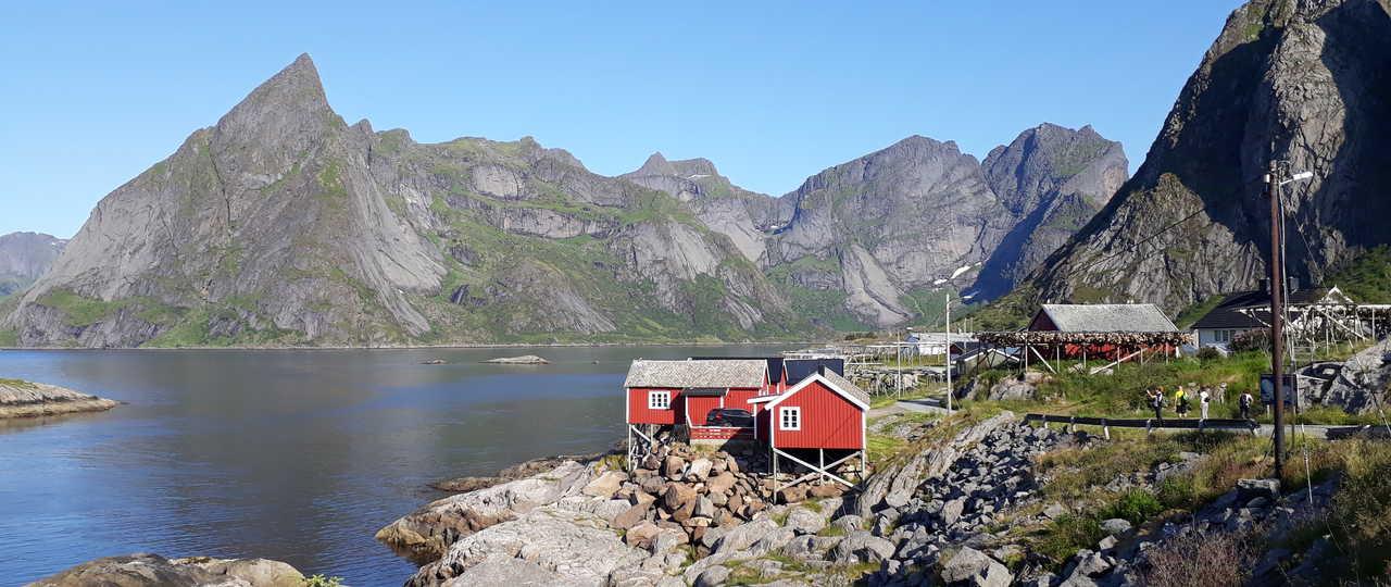 Maisons rouges de Norvège du Nord