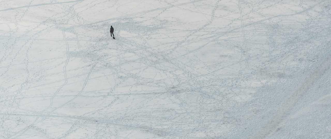 Marche sur la glace de Stockholm
