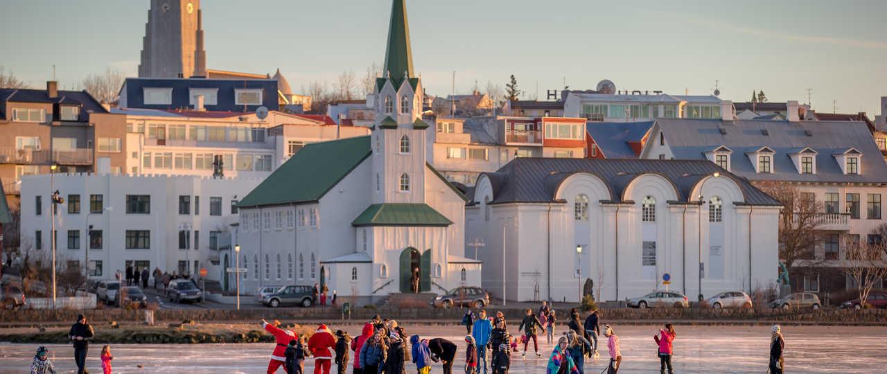 Patin à glace à Reykjavik en Islande
