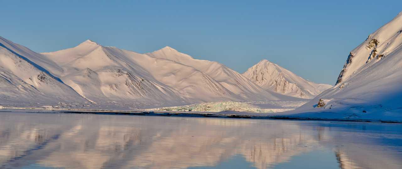 Paysage hiver du Svalbard