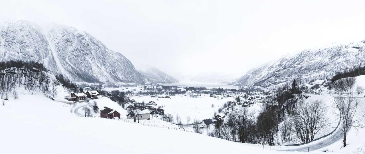 Paysages hivernal de Norvège