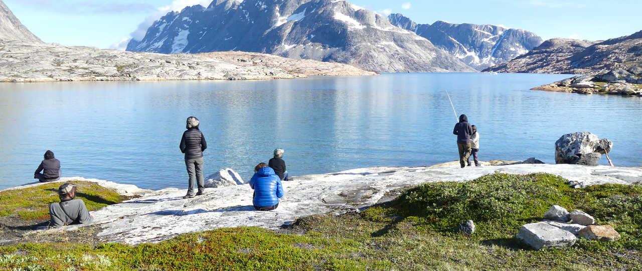 Pêche dans le fjord de l'Est Groenland