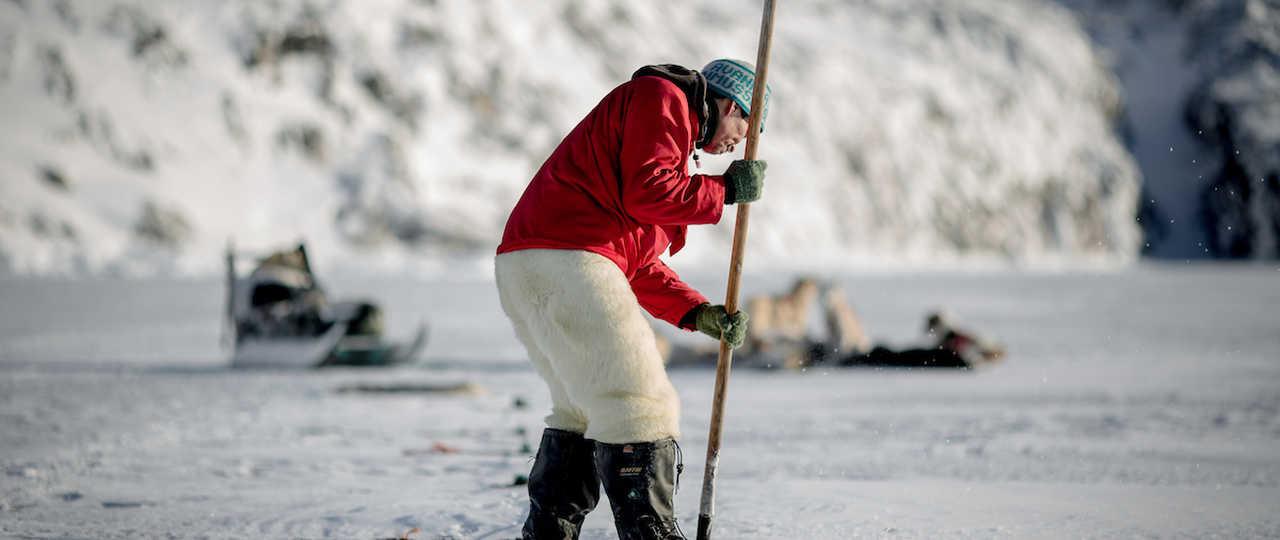 Pêche sous la glace au Groenland