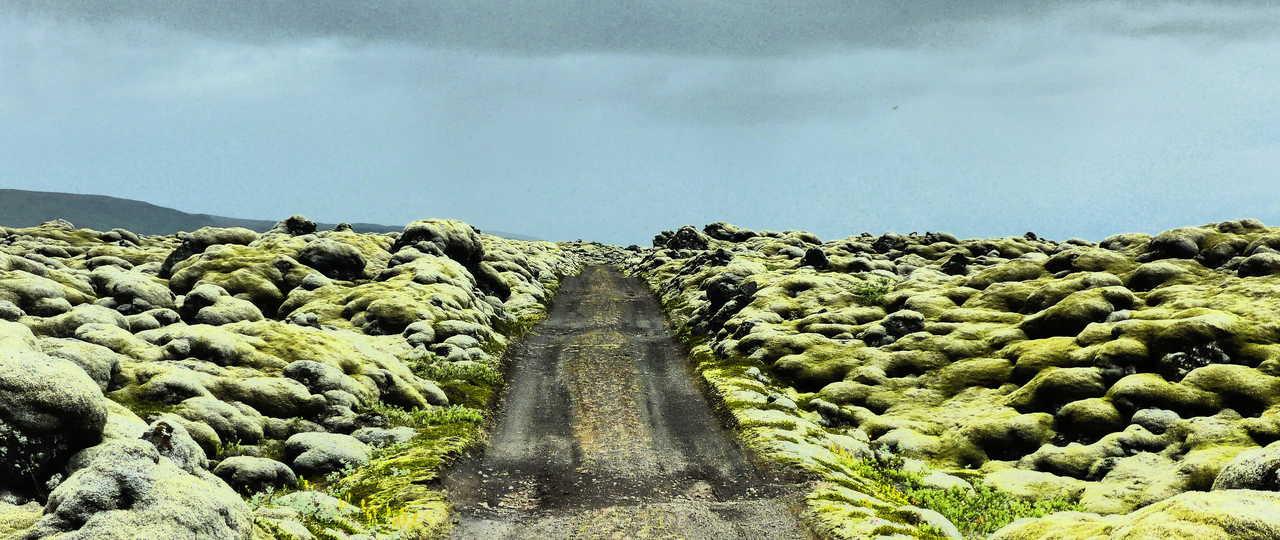 Photo d'une piste en Islande