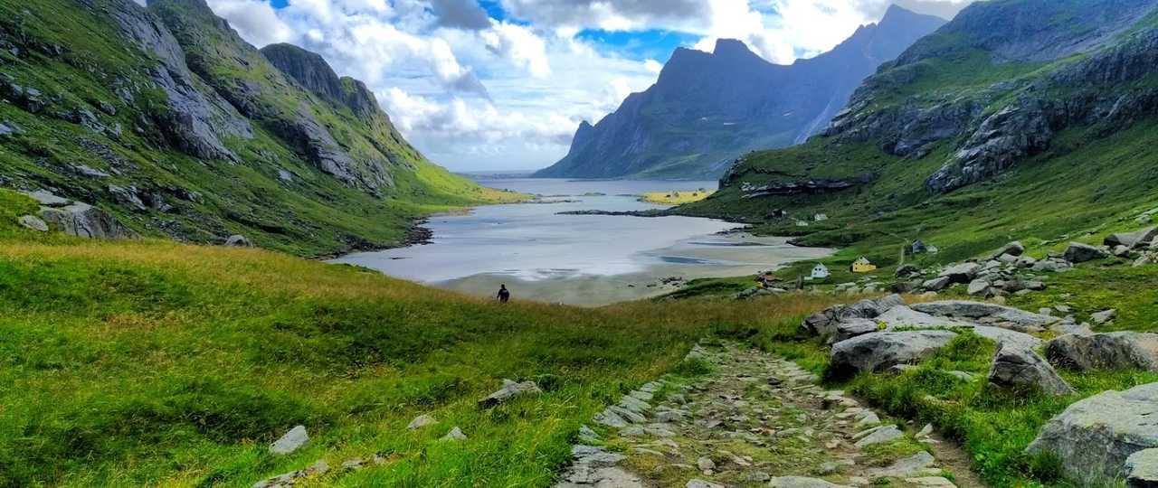 Plage de Bunes dans les îles lofoten