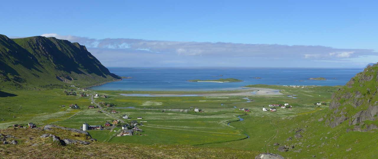 Plage de Fredvang aux Lofoten