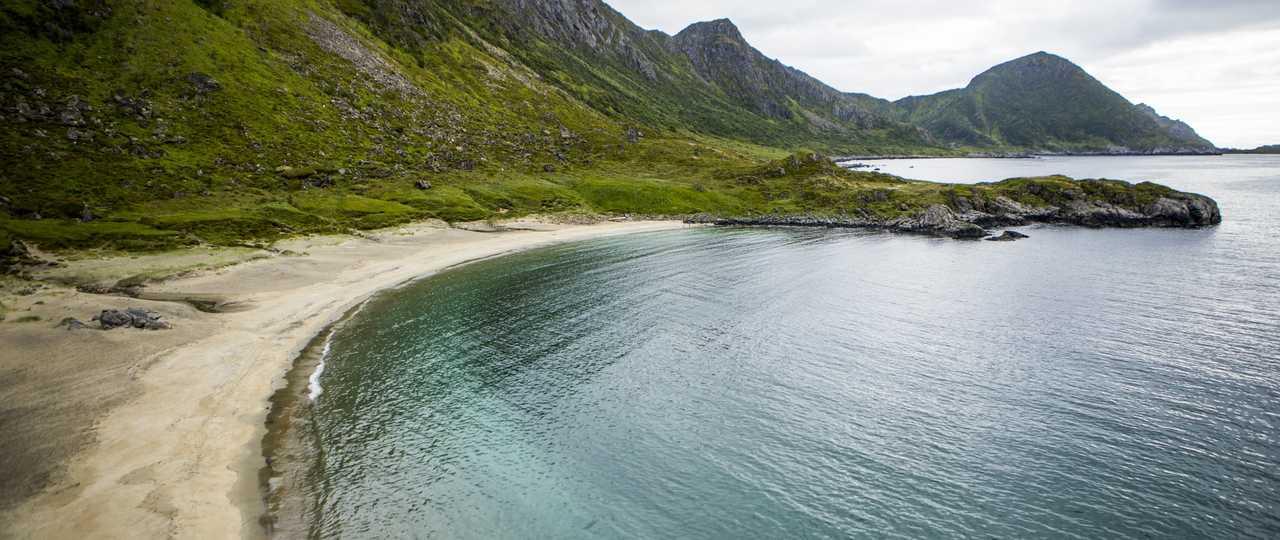 Plage de Norvège en été