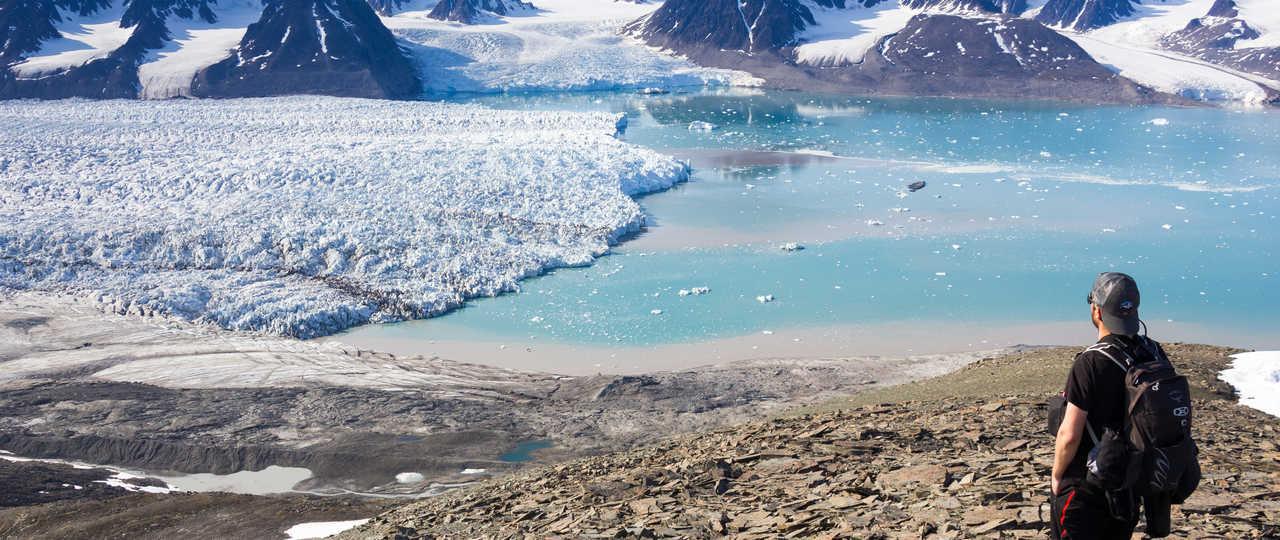 Randonnée au Spitzberg et vue sur glacier