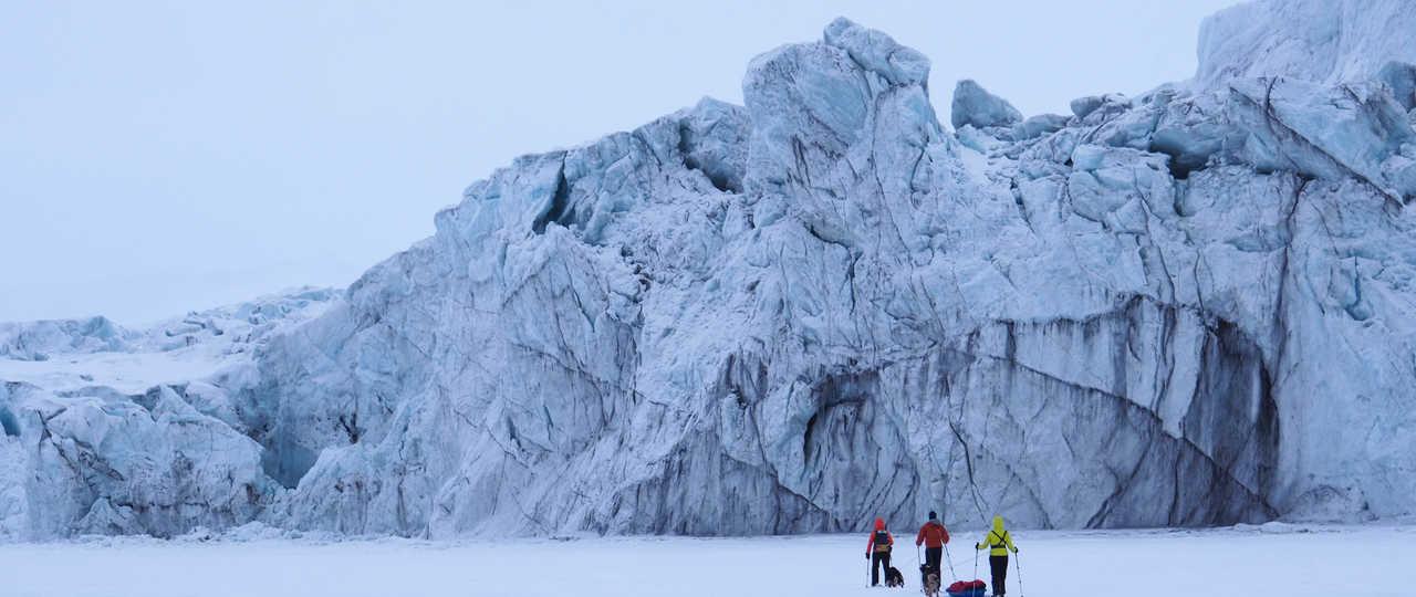 Randonnée jusqu'au glacier, Spitzberg