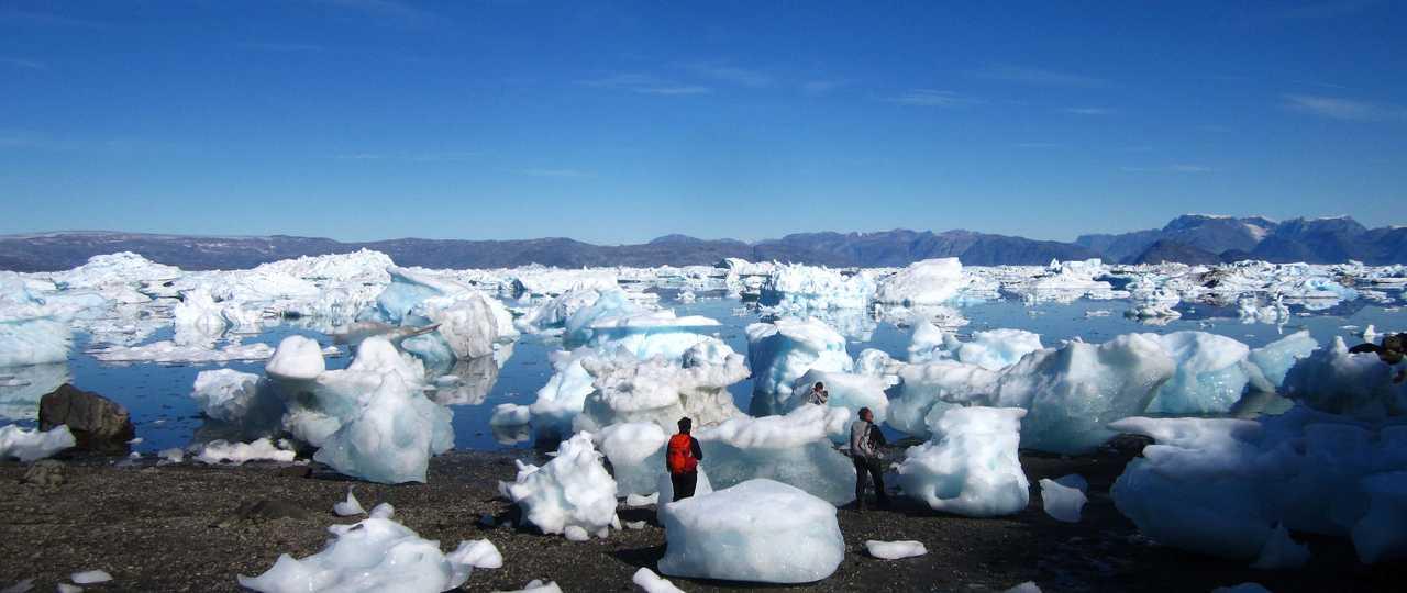 Randonnée parmi les icebergs au Groenland