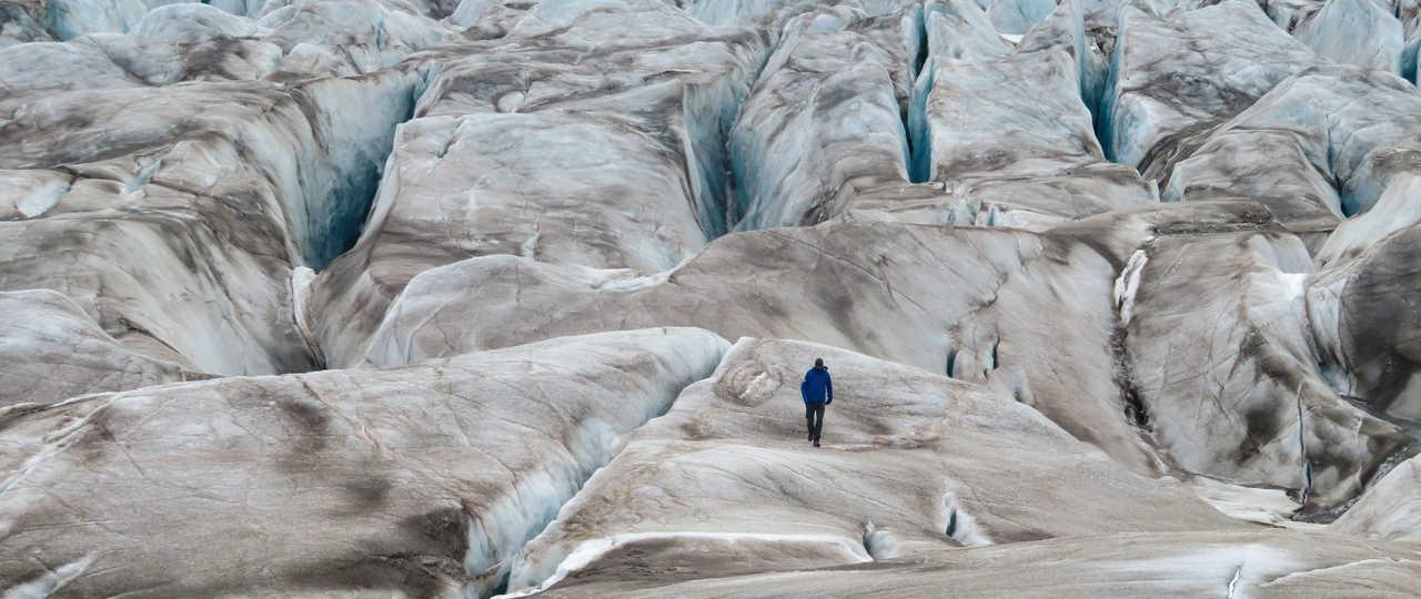 Randonnée sur le glacier de Svéa au Spitzberg