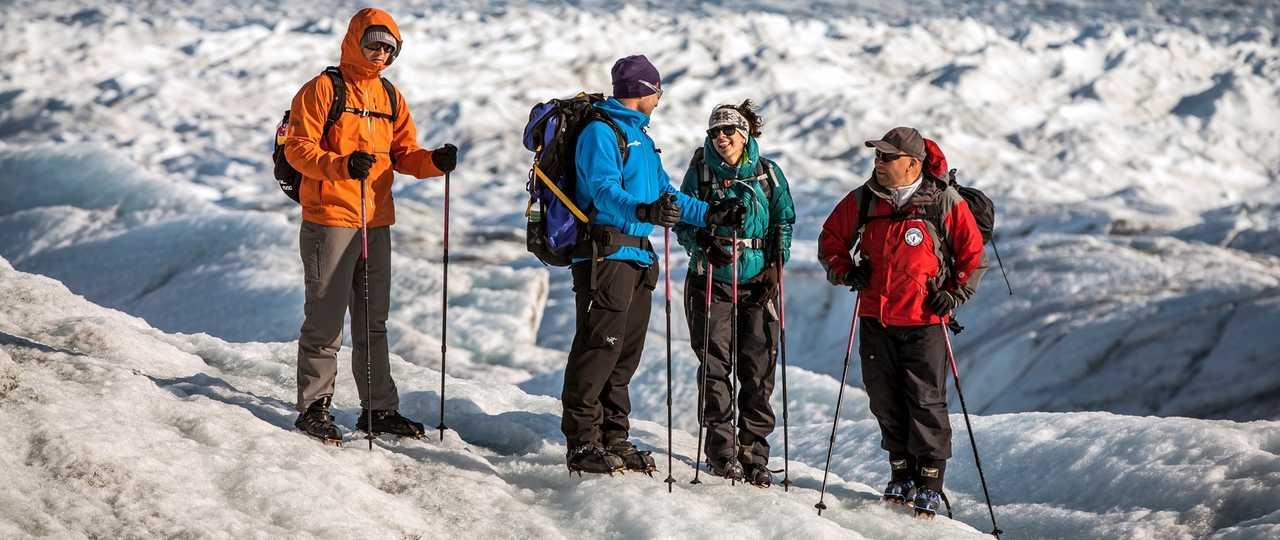 Randonnée sur le glacier Russel au Groenland