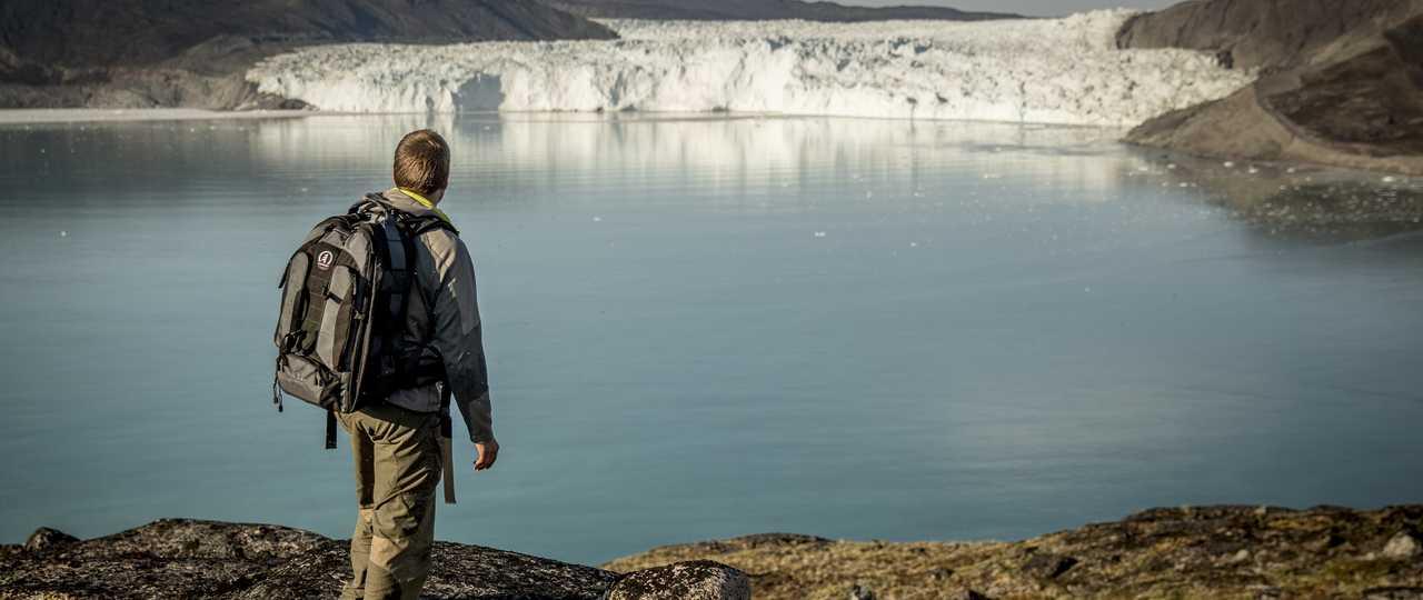 Randonneur au Groenland