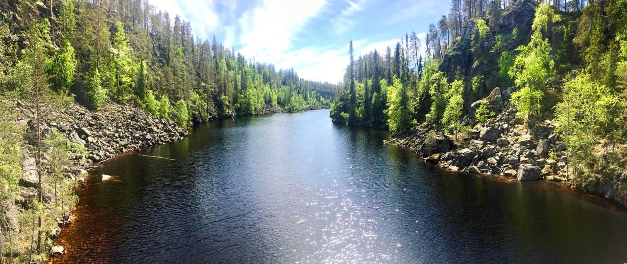 Rivière finlandaise l'été en Laponie