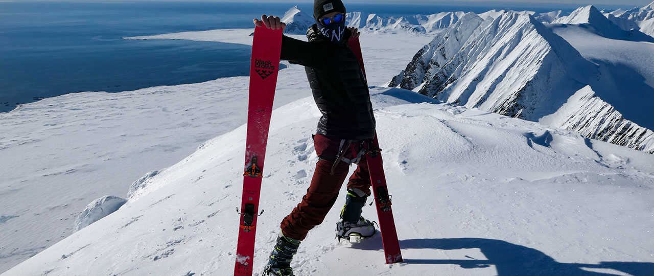 Ski de rando dans le Nord, arrivé au sommet