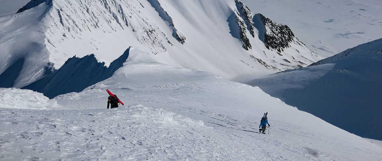 Ski de randonnée en arctique au Spitzberg, Svalbard