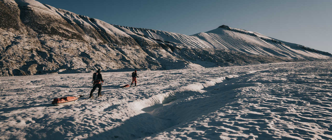 Ski Pulka au Svalbard