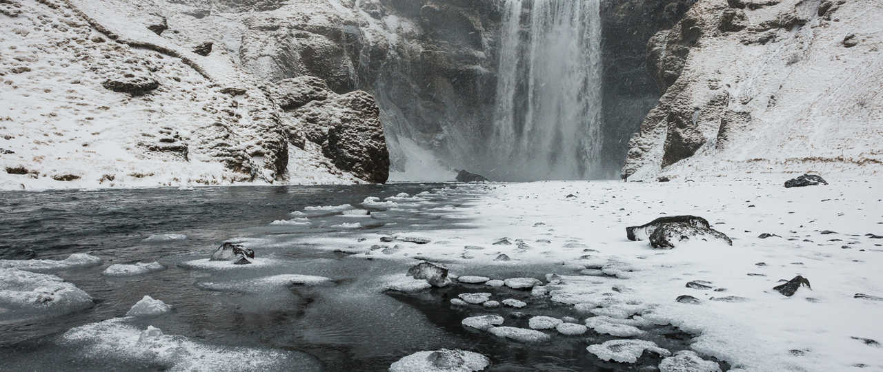Skogafoss, cascade en Islande