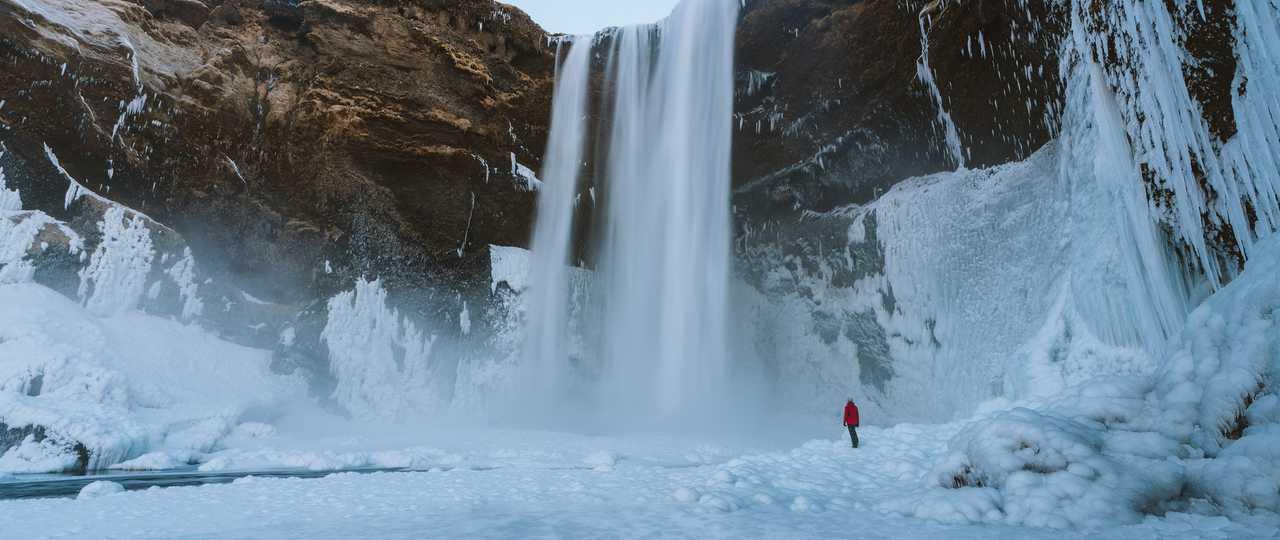 Skogafoss en hiver, Islande