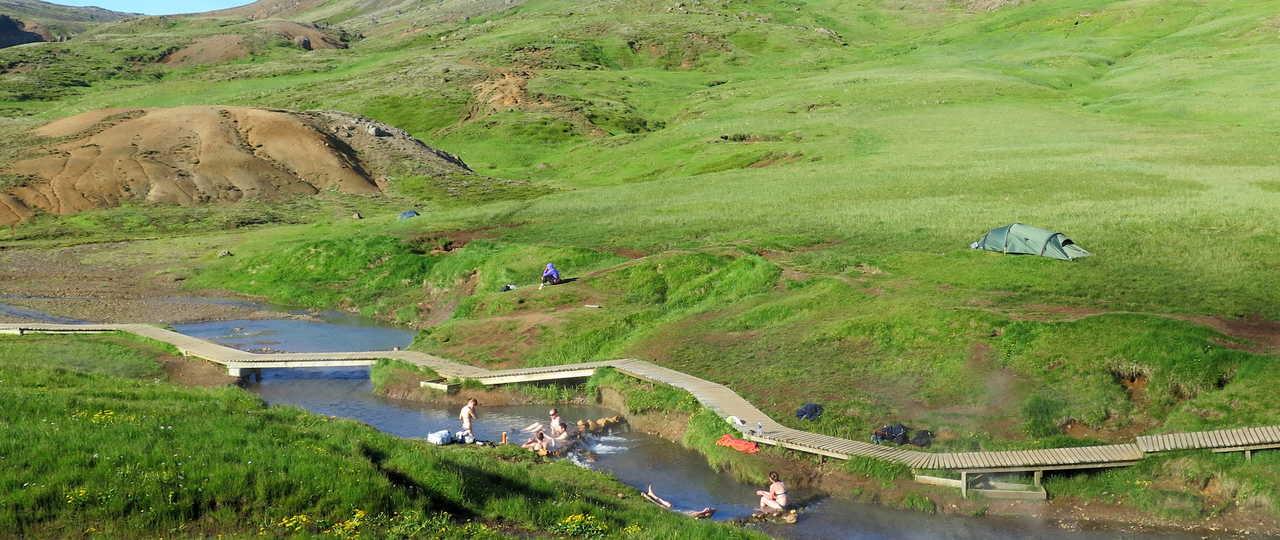 Sources chaudes l'été de Hveragerdi
