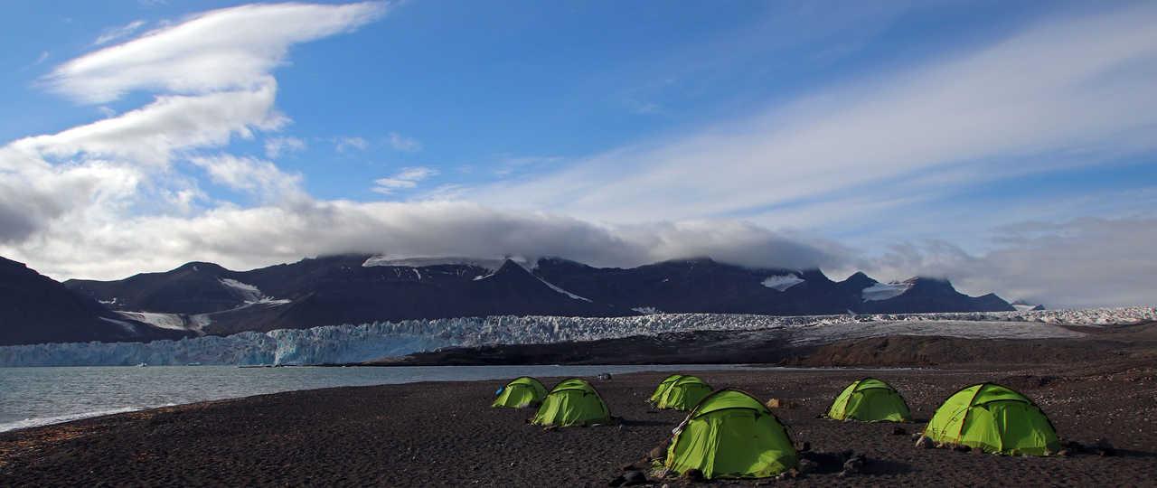 tentes en arctique, Glacier Svéa