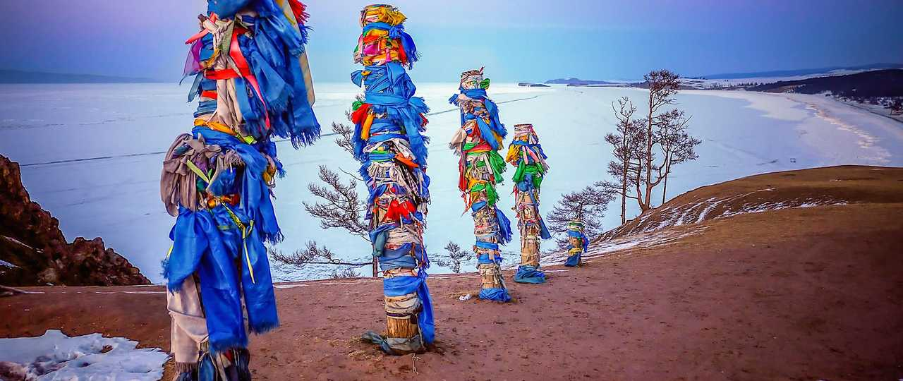 Totems Russie lac baikal