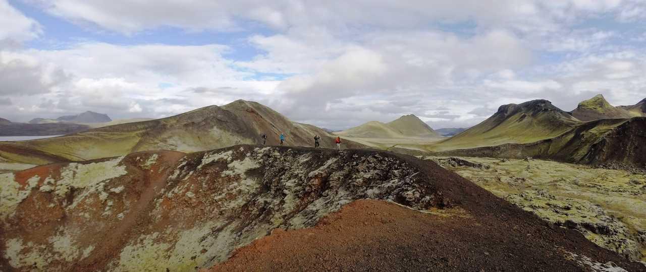 Trek sur les volcans d'Islande