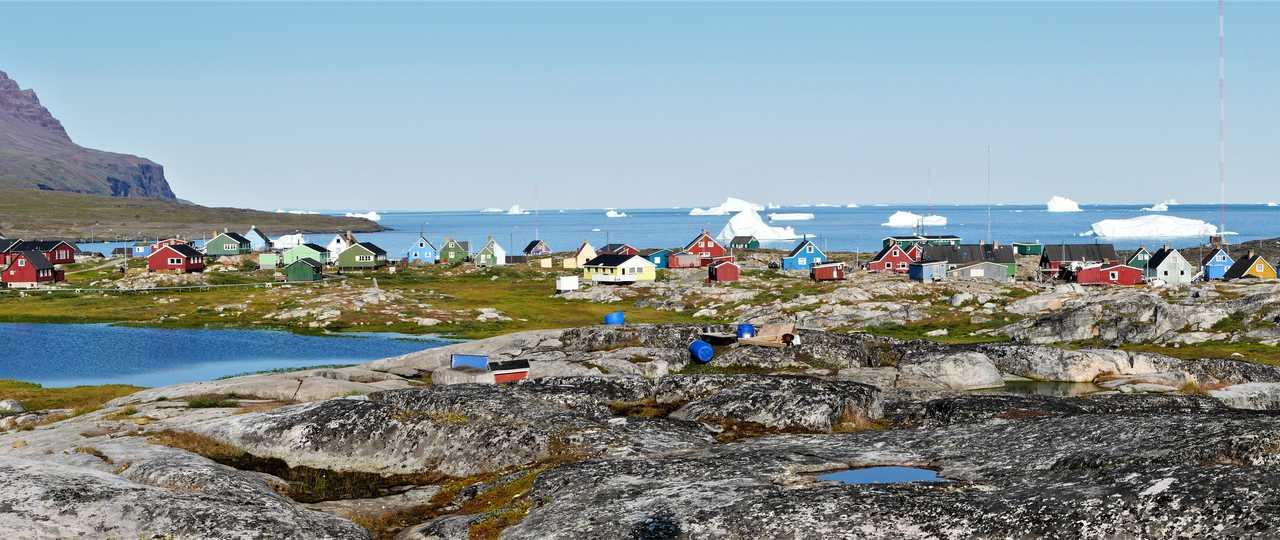 Village coloré au Groenland