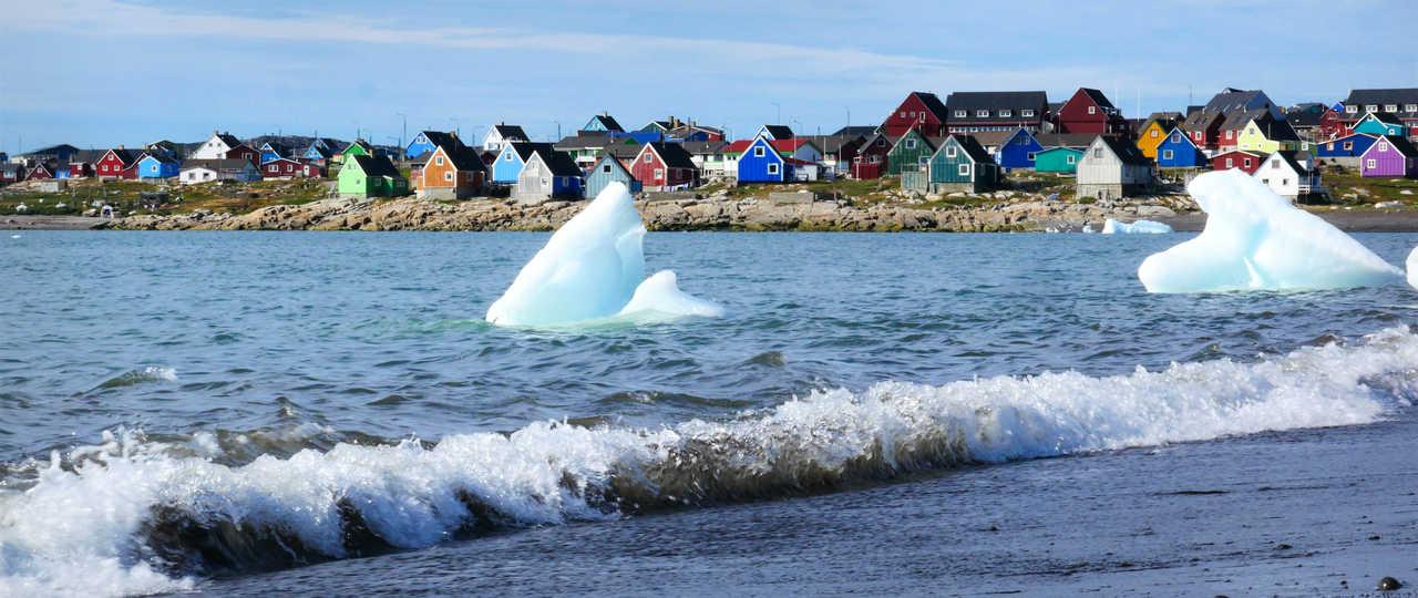 Village d'Ilulissat au Groenland