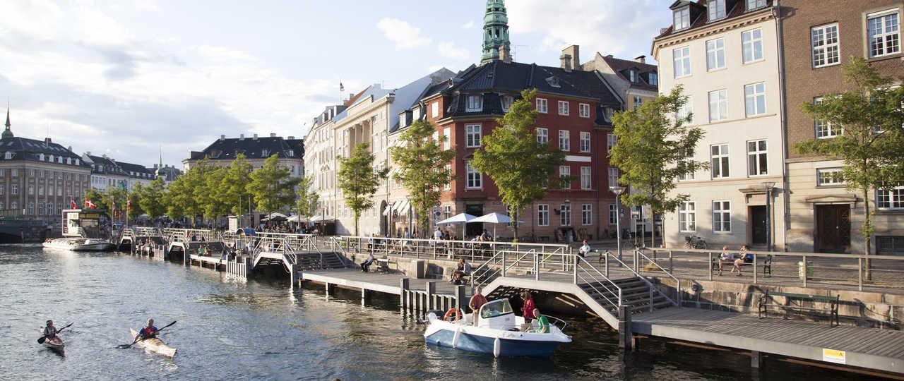 Ville de Copenhague et ses canaux