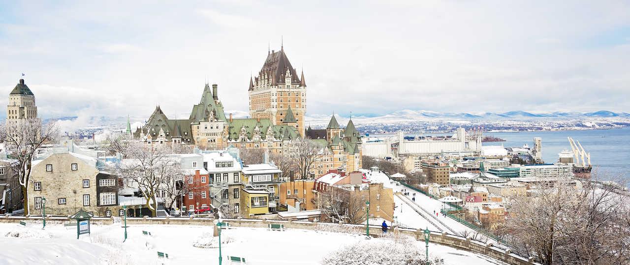 Ville de Québec en hiver sous la neige