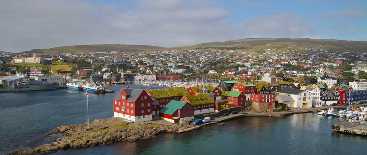 Ville de Torshavn aux îles Féroé