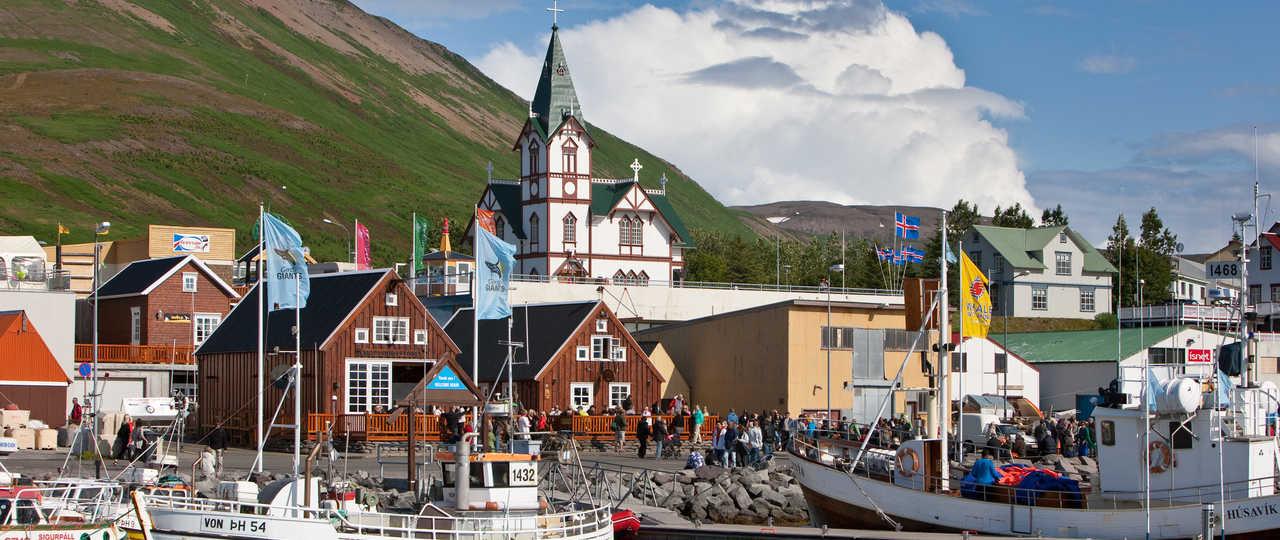 Ville d'Husavik en Islande