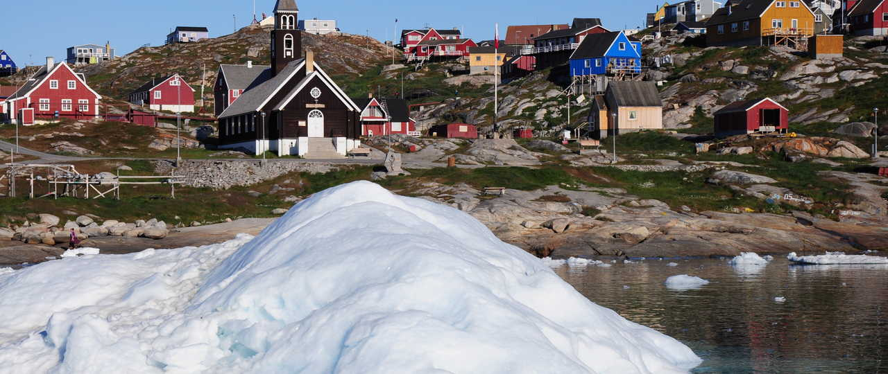 Ville d'Ilulissat au Groenland