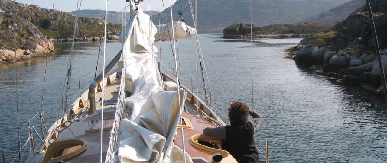 navigation à bord du voilier la louise au groenland