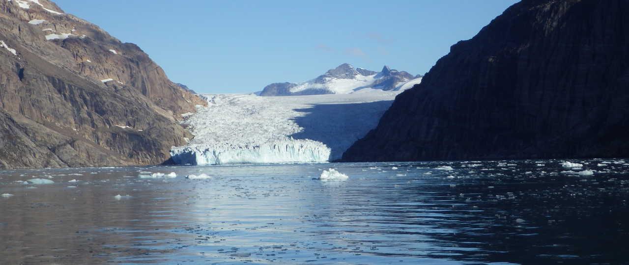 Glacier lors d'une croisière polaire au Groenland