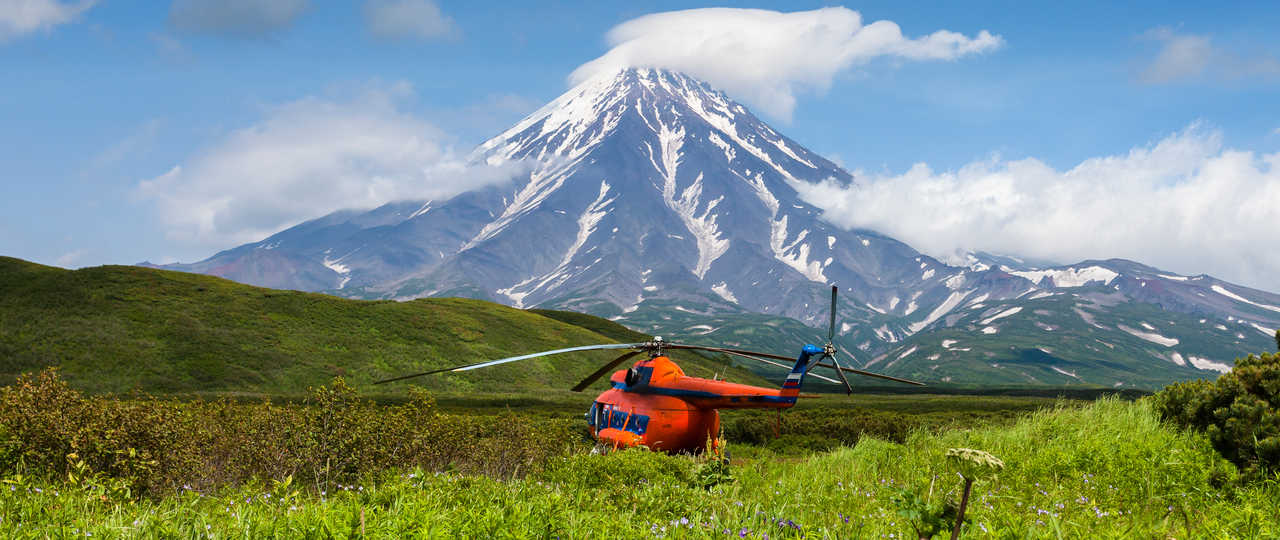 Voyage hélicoptère au Kamchatka