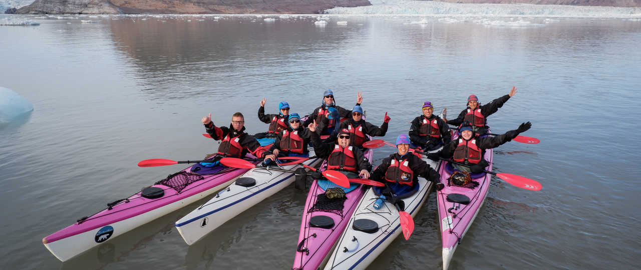 Voyage kayak de mer en arctique au Spitzberg