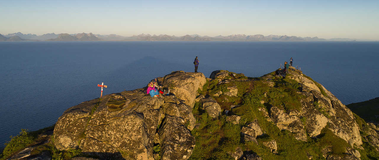 Photo d'une randonnée lors d'une croisière en Norvège