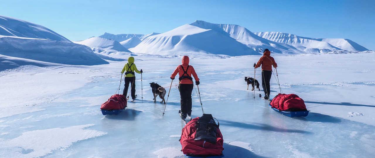 Voyage Ski-pulka au Spitzberg