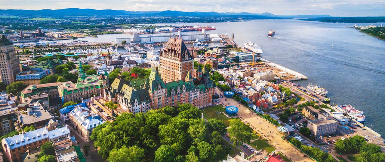 Vue aérienne de la ville de Québec au Canada