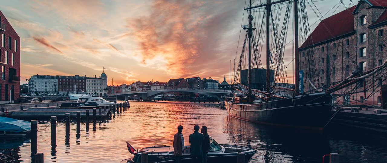 Vue de Copenhague et son port