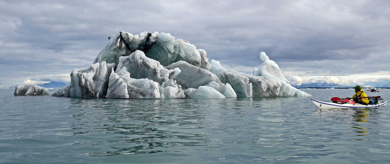 Yannick Long guide arctique en kayak Spitzberg