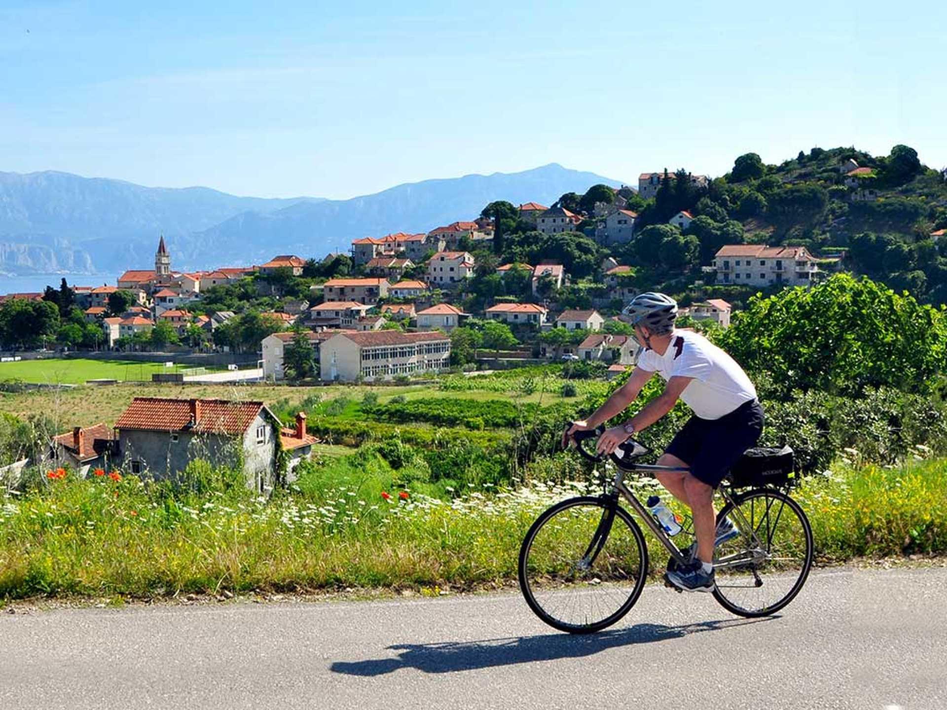 A vélo dans la Dalmatie