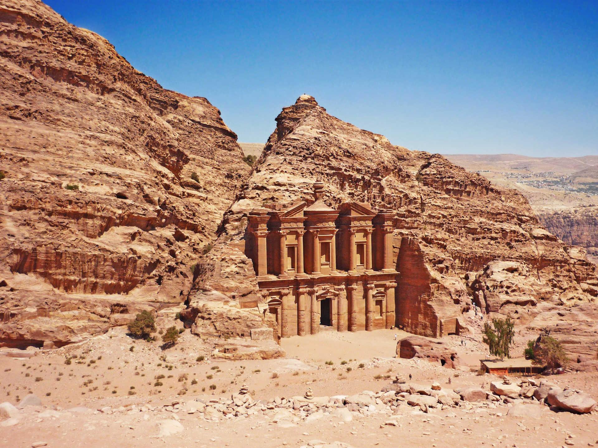 Ad Deir - le monastère du site archéologique de Petra Jordanie