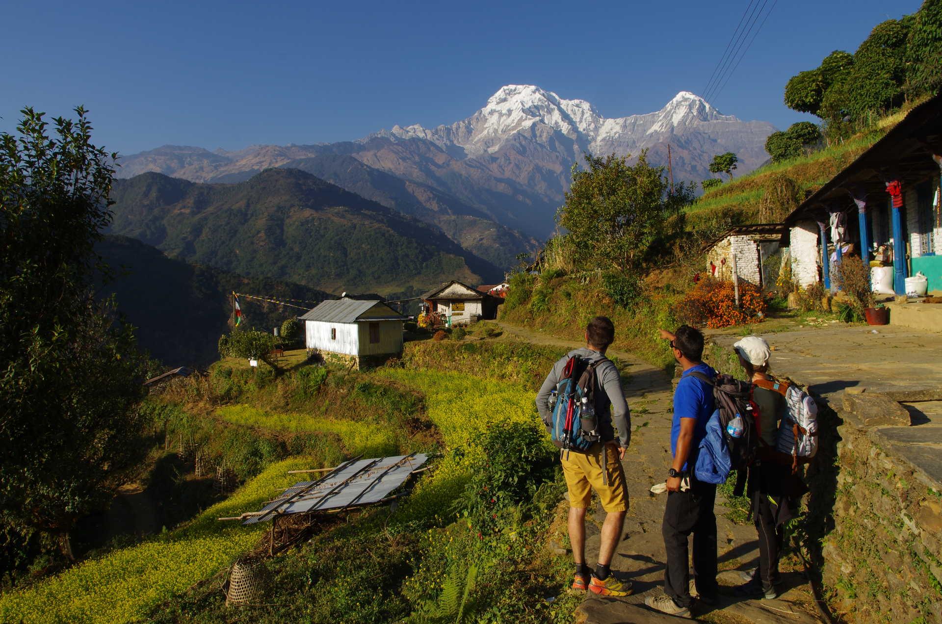 Balcon des Annapurnas avec notre guide Arjun